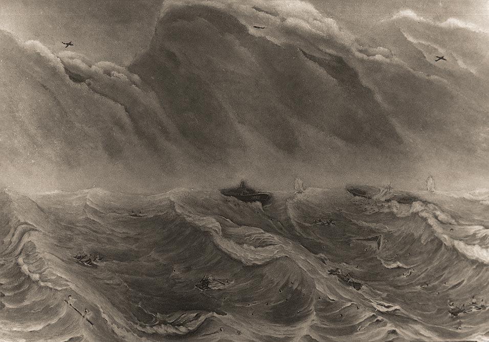 3-я часть триптиха Владимира Солонцова «Ладожская трагедия 17 сентября 1941 г. Баржа № 752»